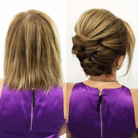 Updo Hair Sleek Short