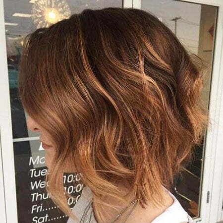 Hair Balayage Short Highlights
