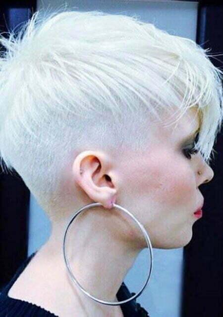 Pixie Hair White Short