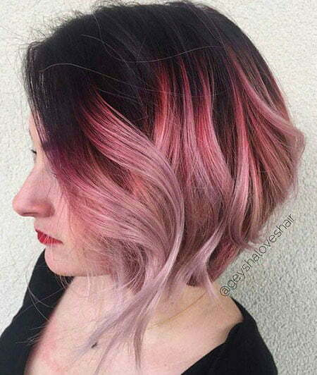 Pink Hair Ombre Short