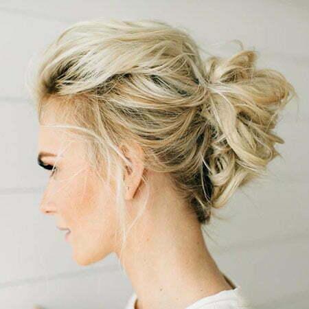 Updo Hair Thin Messy