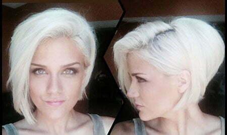 Girl White Blonde Bob