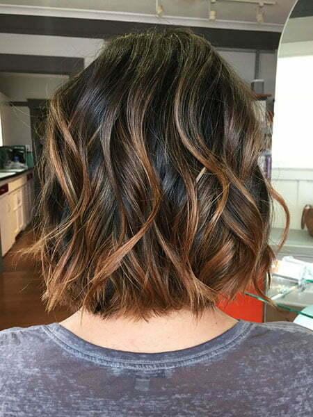 Balayage Hair Short Brown