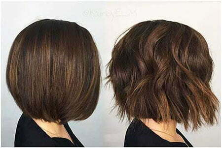 Hair Bob Balayage Choppy