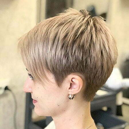 Pixie Short Choppy Blonde