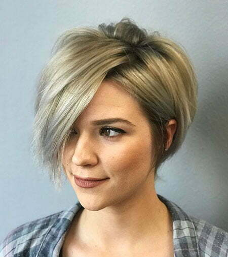 Blonde Short Hair Bob