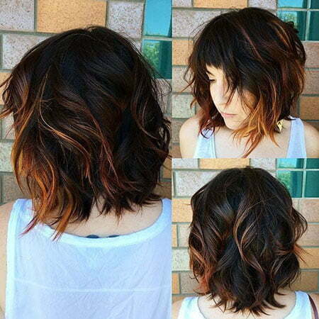 Bob Wavy Bangs Choppy