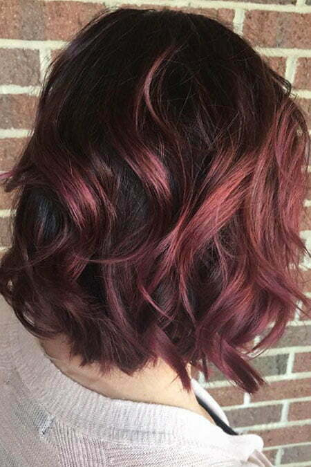 Burgundy Color Short Hair, Hair Thick Short Color