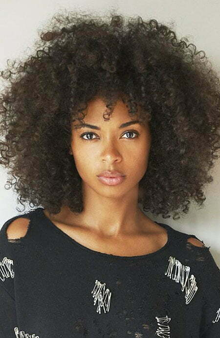 Afro Short Curly Hair, Hair Curly Natural Styles