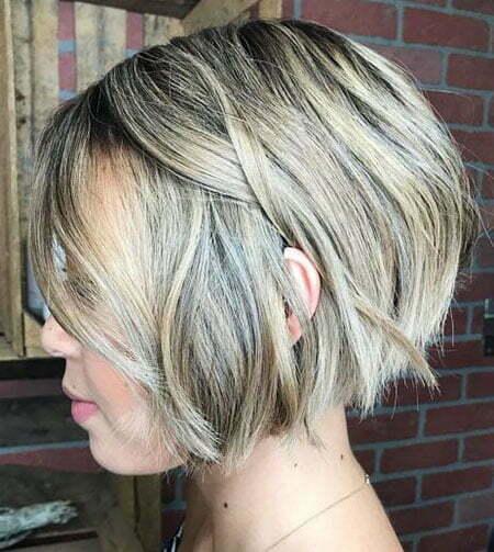 Ash Blonde, Blonde Short Balayage Shag