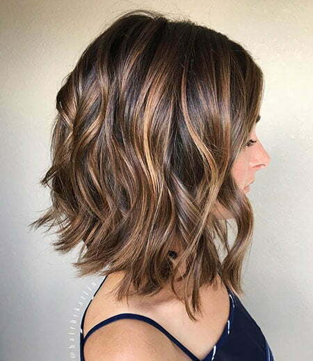 Brown Hair Caramel Highlights