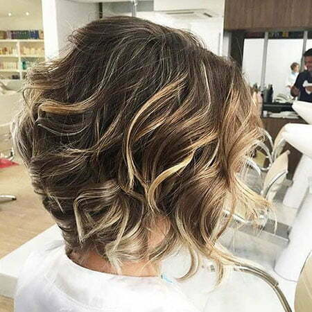 Layered Short Balayage Hair