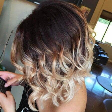 Hair Ombre Color Short