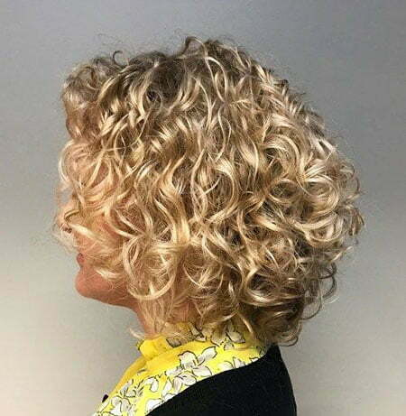 Curly Bob Blonde Bronde