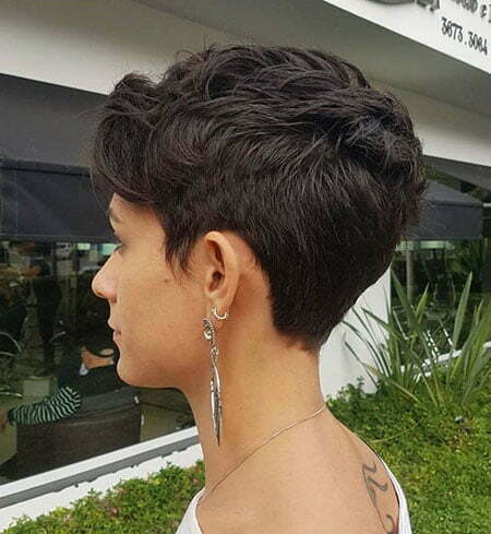 Short Pixie Tapered Layered