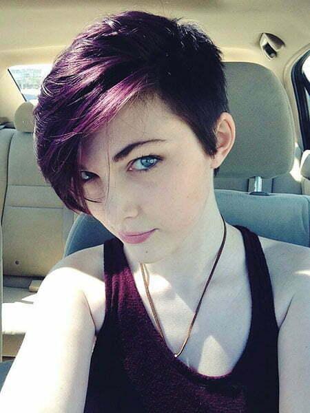 Purple Pixie Short Hair