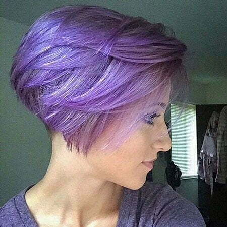 Purple Bob Pixie Gray