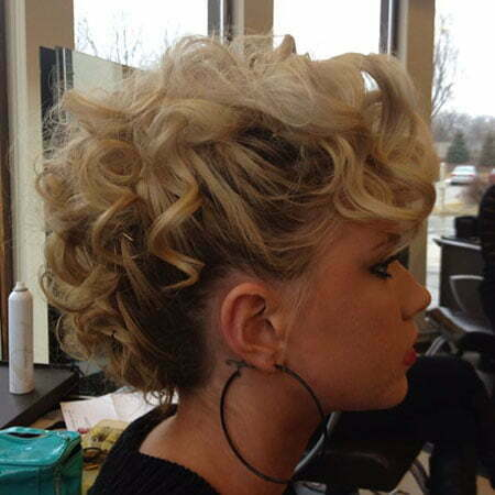 Hair Curly Wedding Updo