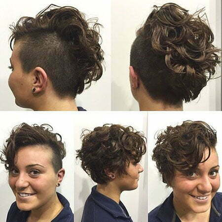 Short Hair Curly Undercut