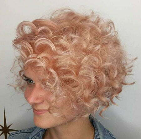 Curly Short Blonde Hair