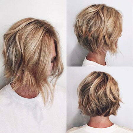 Short Edgy Hairtyle, Bob Blonde Wavy Layers