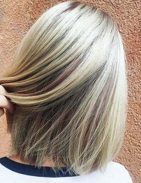 Short Haircut for Straight Hair, Hair Blonde Color Straight
