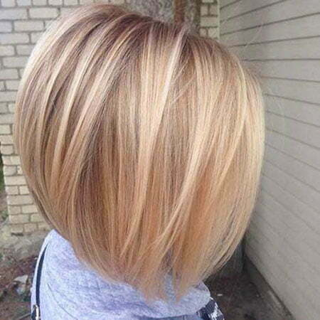 Short Hairtyle, Bob Fine Blonde Chopped