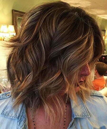 Length Layered Hair Wavy