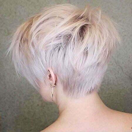 Choppy Blonde Short Pixie
