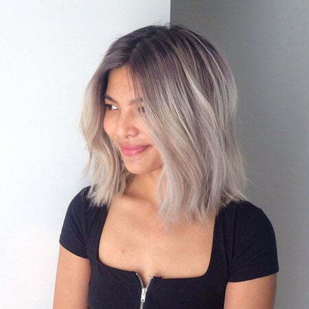 Balayage Gray Trends Lob
