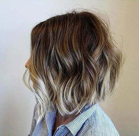Blonde Balayage Choppy Bob