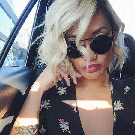 Blonde Platinum Hair Edgy