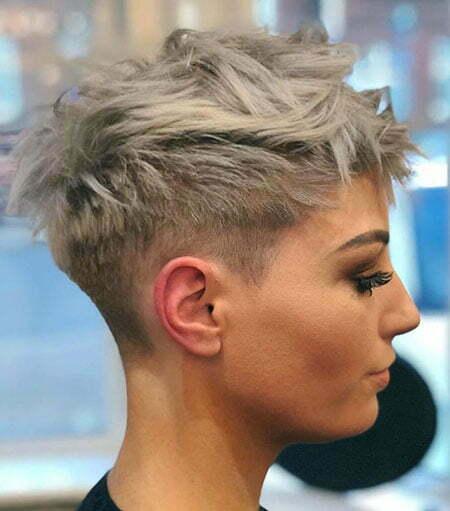 Pixie Hair Gray Short