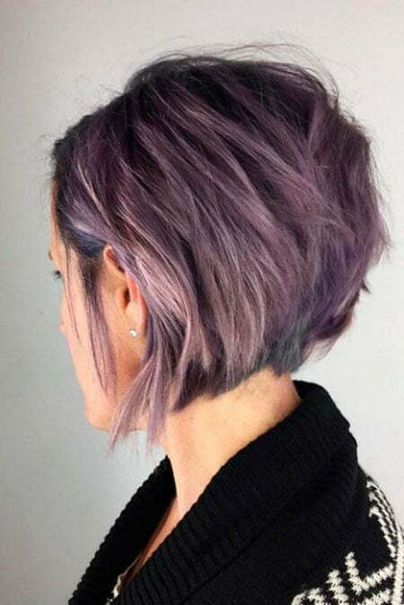 Bob Layered Short Purple