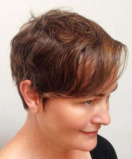 Pixie Brown Messy Cut