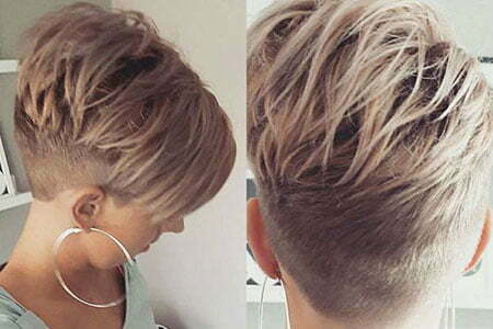 Pixie Choppy Short Blonde