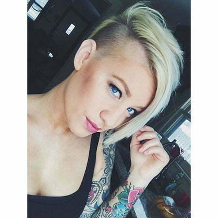 Blonde Platinum Pixie Long