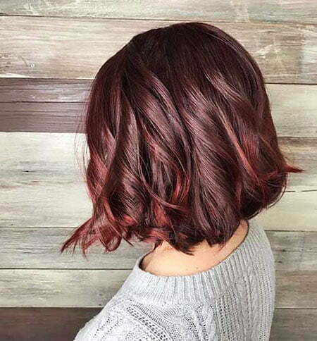 Hair Balayage Burgundy One