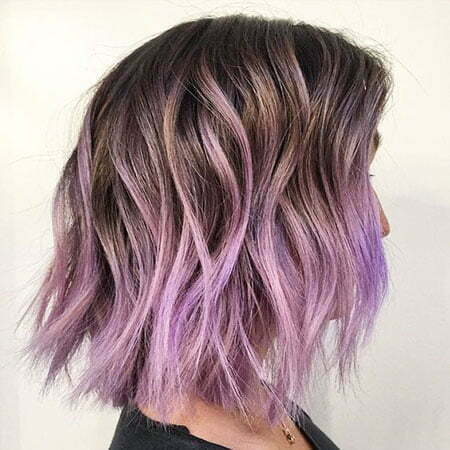 Hair Purple Ombre Color