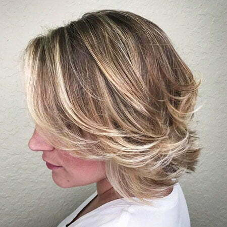 Layered Bob, Bob Blonde Choppy Balayage