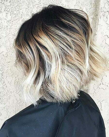 Dark Roots, Balayage Blonde Bob Dark