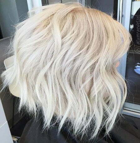 Ice Blonde Hair, Blonde Bob Platinum Choppy