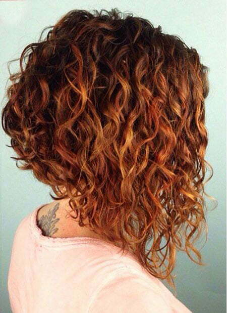 Inverted Curly Bob, Curly Hair Bob Short