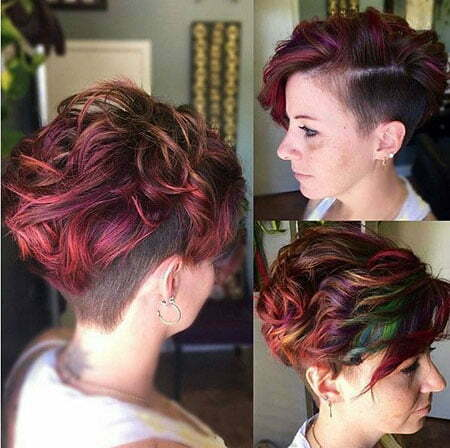 Undercut Hairtyle, Pixie Hair Cut Layered