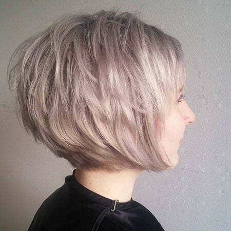 Layered Edgy Bob, Blonde Bob Ash Edgy