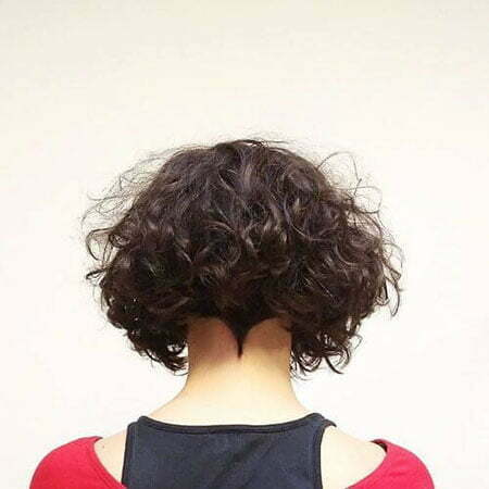 Back View, Curly Bob Hairtyles Short