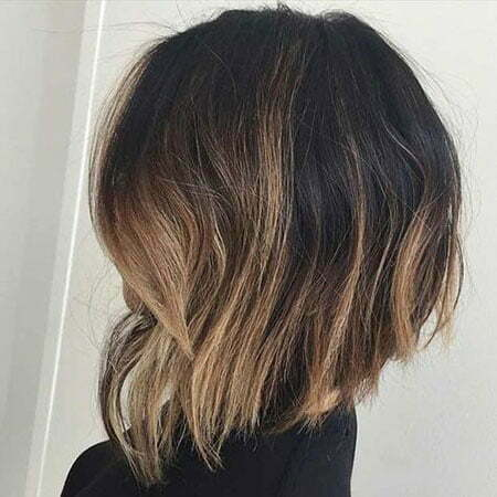 Inverted Bob with Ombre, Balayage Bob Choppy Blonde