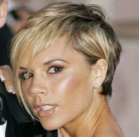 Long Side Bangs, Hair Short Victoria Beckham