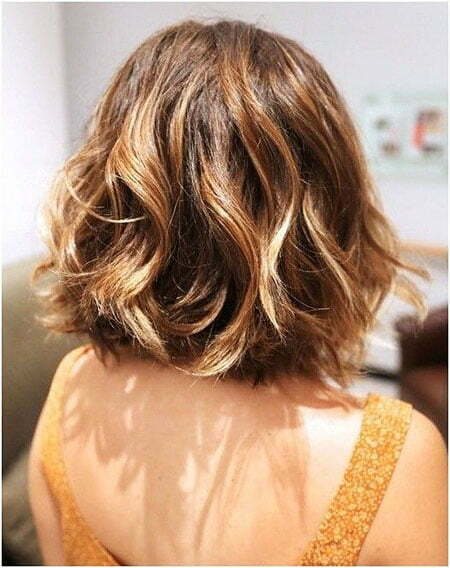 Wavy Hair with Balayage, Hair Wavy Women Short
