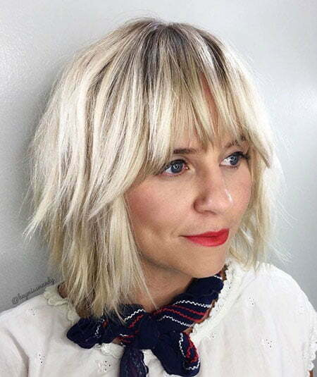 23 Short Blonde Hair With Bangs